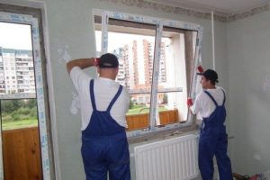 Монтажные работы установка окна