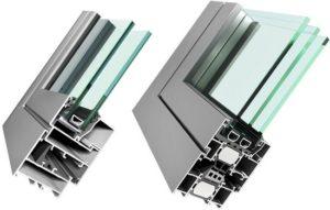 Холодный и теплый алюминиевый профиль для окон